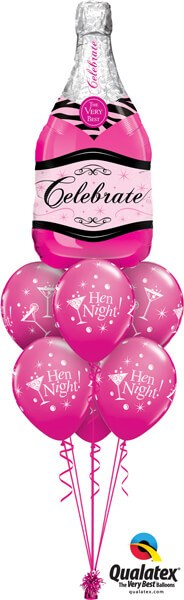 Bukiet 538 Hen Night Champagne Bottle Qualatex #15844 19135