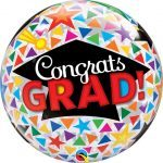 """22"""" / 56cm Congrats Grad Caps & Triangles Qualatex #47366"""
