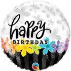 "18"" / 46cm Birthday Band Of Flowers Qualatex #49198"