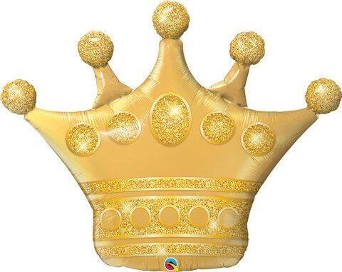 "39"" / 99cm Golden Crown Qualatex #49343"