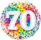"18"" / 46cm 70 Rainbow Confetti Qualatex #49556"