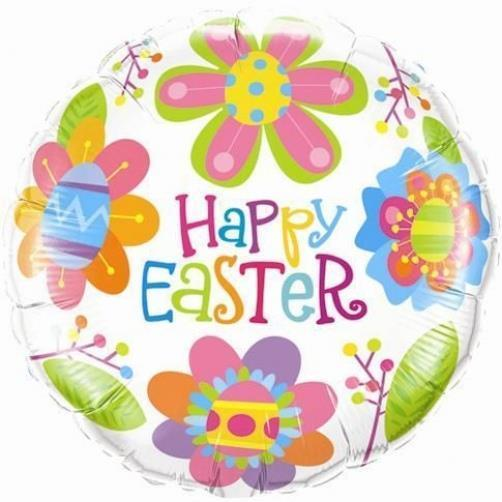 "18"" / 46cm Easter Colourful Blossoms Qualatex #35089"