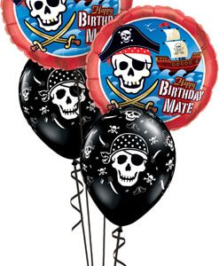 Bukiet 547 A Pirate's Life Birthday Qualatex #11767-2 12566-3