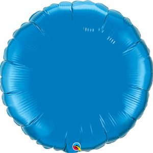 18″ / 46cm Solid Colour Round Dark Blue Qualatex #87141