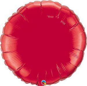 36″ / 91cm Solid Colour Round Ruby Red Qualatex #12681
