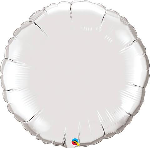36″ / 91cm Solid Colour Round Silver Qualatex #12683
