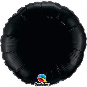 18″ / 46cm Solid Colour Round Onyx Black Qualatex #12907