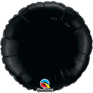 18″ / 46cm Solid Colour Round Onyx Black Qualatex #12907