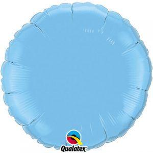 18″ / 46cm Solid Colour Round Pale Blue Qualatex #12908