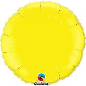18″ / 46cm Solid Colour Round Yellow Qualatex #12915