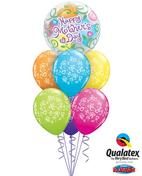 Bukiet 578 Flowers & Hearts for Mom Qualatex #34724 38455-6