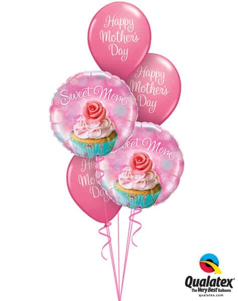 Bukiet 587 Mother's Day Cupcakes Qualatex #90585-2 13326-3