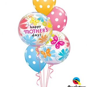 Bukiet 580 Mother's Day Flowers & Butterflies Qualatex #79717-2 14248-3