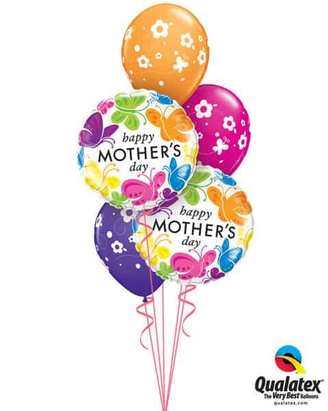 Bukiet 581 Mother's Day Bright Butterflies Qualatex #91848-2 85065-3