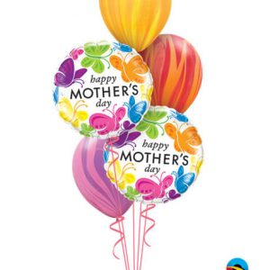 Bukiet 583 Mother's Day Rainbow Butterflies Qualatex #91848-2 91544-3