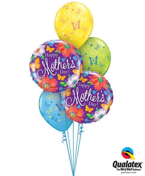 Bukiet 563 Mother's Day Butterflies Qualatex #24082-2 14518-3