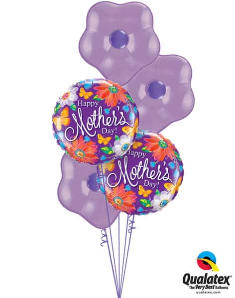 Bukiet 564 Mother's Day Spring Lilac Flowers Qualatex #24082-2 37807-3 82697-3