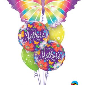 Bukiet 568 Mother's Day Luminous Butterfly Qualatex #11656 24082-2 48371-2