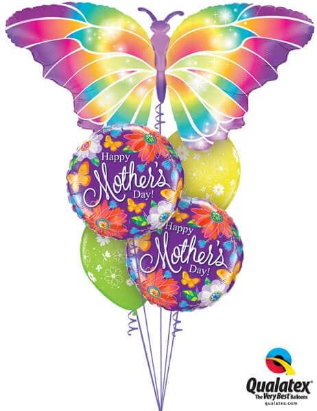 Bukiet 568 Mother's Day Luminous Butterfly Qualatex #11656 24082-2 48371-2