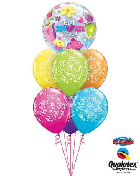 Bukiet 571 Best Mom Ever Cupcakes Qualatex #11539 48371-6