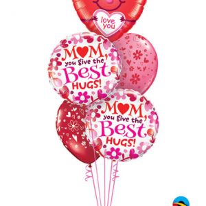 Bukiet 592 The Best Hugs Come From Mom Qualatex #21823 24068-2 37123-2