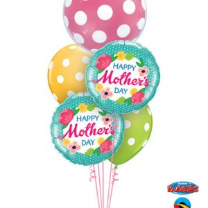 Bukiet 597 Giant Mother's Day Polka Dots Qualatex #16872 25574-1 47380-2 84651-2