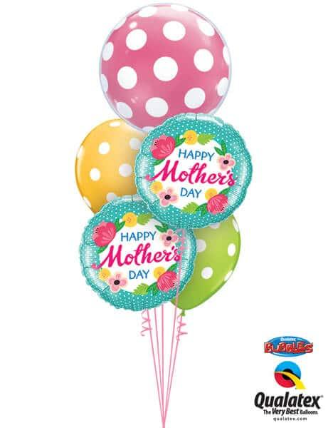 Bukiet 597 Giant Mother's Day Polka Dots Qualatex #16872 25574-1 47380-2 84651-2
