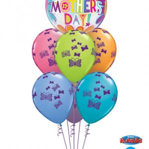 Bukiet 576 Mother's Day Flowers and Butterflies Qualatex #47601 48365-6