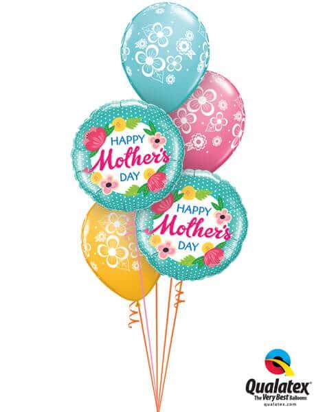 Bukiet 588 Pretty Mother's Day Polka Dots Qualatex #47380-2 48370-3