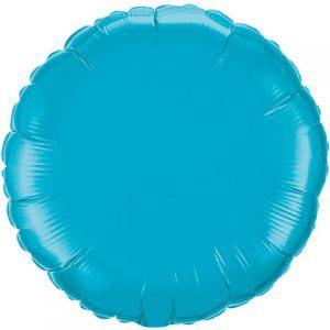 18″ / 46cm Solid Colour Round Turquoise Qualatex #30749