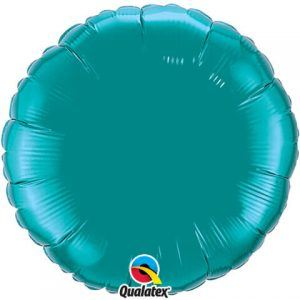 18″ / 46cm Solid Colour Round Teal Qualatex #32554