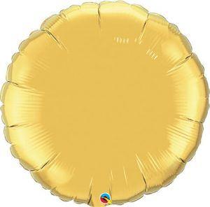 36″ / 91cm Solid Colour Round Gold Qualatex #37689