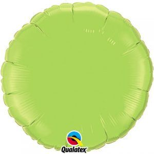 18″ / 46cm Solid Colour Round Lime Green Qualatex #73310