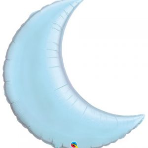 35″ / 89cm Crescent Moon Pearl Light Blue Qualatex #74622