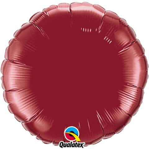 18″ / 46cm Solid Colour Round Burgundy Qualatex #74917