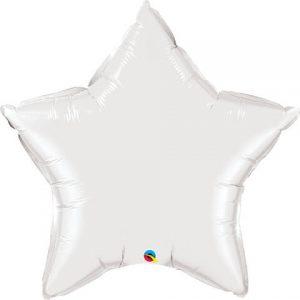 36″ / 91cm Solid Colour Star White Qualatex #12348
