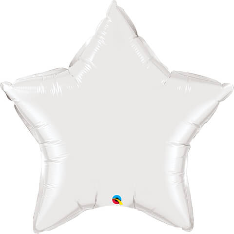36″ / 91cm Solid Colour Star White Qualatex #12348