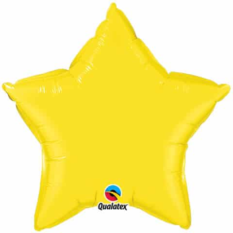 20″ / 51cm Solid Colour Star Yellow Qualatex #12627