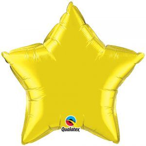 20″ / 51cm Solid Colour Star Citrine Yellow Qualatex #12631