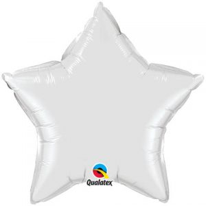 20″ / 51cm Solid Colour Star White Qualatex #12643