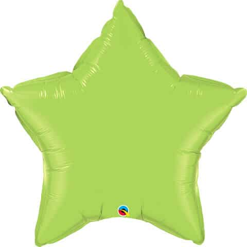 36″ / 91cm Solid Colour Star Lime Green Qualatex #16165
