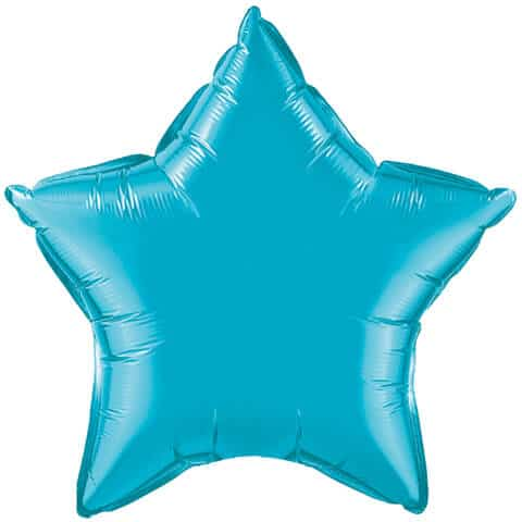 20″ / 51cm Solid Colour Star Turquoise Qualatex #24819
