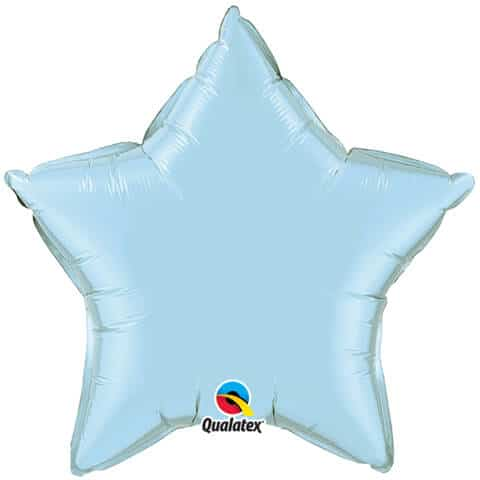 20″ / 51cm Solid Colour Star Pearl Light Blue Qualatex #54802