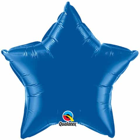 20″ / 51cm Solid Colour Star Dark Blue Qualatex #86472