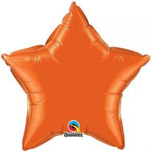 20 ″ / 51cm Solid Color Star Orange Qualatex # 86966