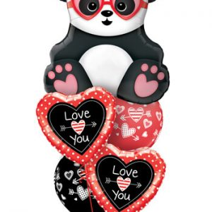 "Bukiet 670 ""Love You"" Panda Bear #54882 54850-2 55247-2"