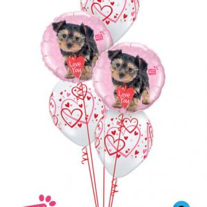 Bukiet 711 Valentine's Hearts & Puppies #55232-2 40295-3