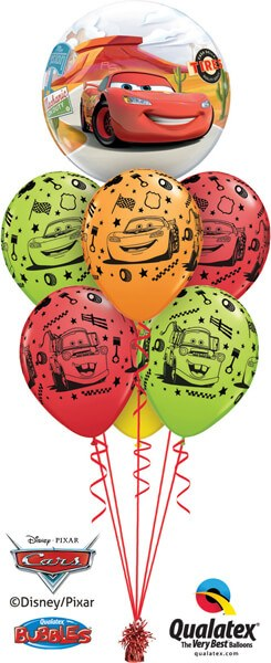 Bukiet 545 Cars Supercharged Birthday Qualatex #10185 18706-6