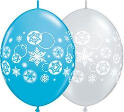 "12"" / 30cm Snowflakes & Circles Qualatex Quick Link #11417-1"