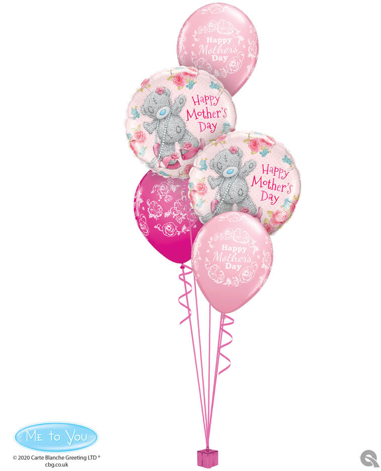 Bukiet 395 Tiny Tatty Teddy Mother's Day Qualatex #11688-2 12036-3